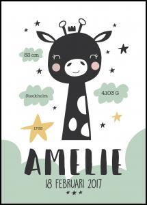 Baby giraffe - Green