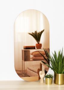 KAILA Peili Oval Rose Gold 50x100 cm