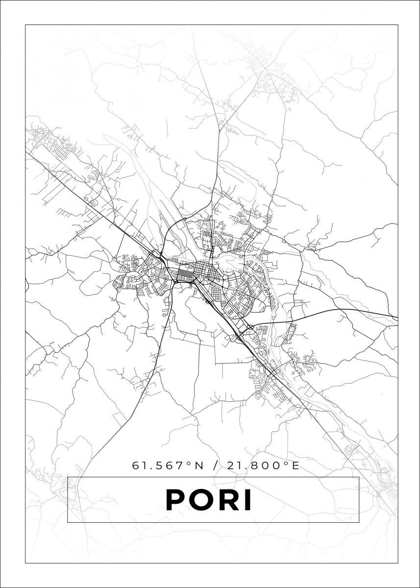 Kartta Pori Valkoinen Bga Fi