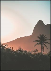 Mountain Sunset Juliste