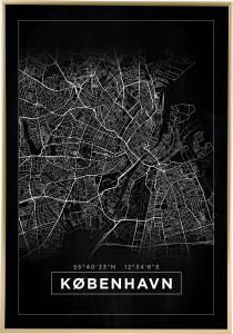 Kartta - København - Musta Juliste