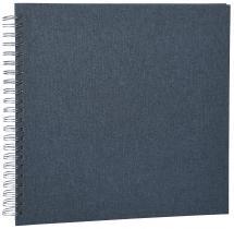 Base Line Canvas Wire-O Sininen 30x30 cm (50 Valkoista sivua / 25 Lehteä)