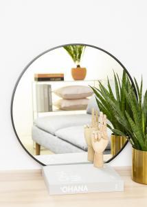 KAILA Round Mirror - Edge Black 60 cm Ø