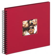 Fun Kierrealbumi Punainen - 30x30 cm (50 Mustaa sivua / 25 lehteä)