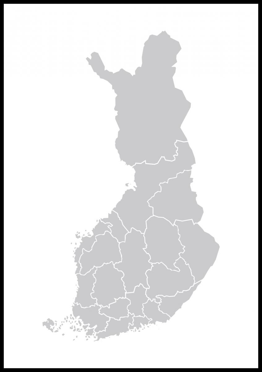 Kartta Suomi Harmaa Bga Fi