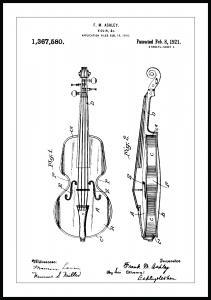 Patentti Piirustus - Viulu Juliste