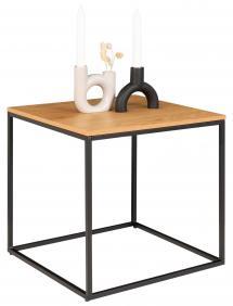 Sivupöytä Vita 45x45 cm - Musta/Tammi
