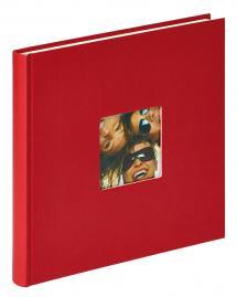 Fun Punainen- 26x25 cm (40 Valkoista sivua / 20 lehteä)