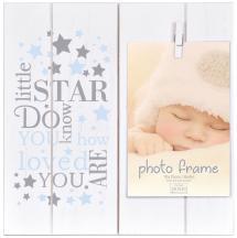 Baby Little Star Blue Clipper Frame Blue