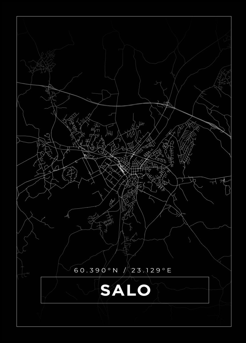 Kartta Salo Musta Bga Fi