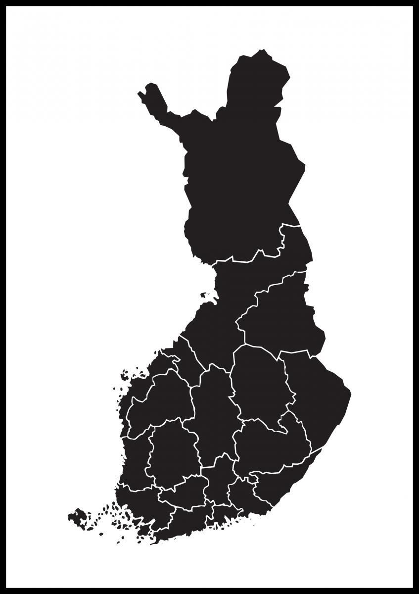 Kartta Suomi Musta Bga Fi