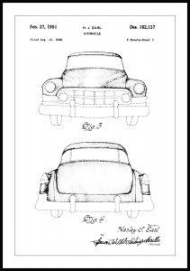Patentti Piirustus - Cadillac II Juliste