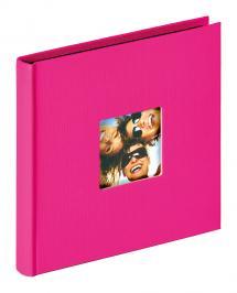 Fun Albumi Vaaleanpunainen - 18x18 cm (30 Mustaa sivua / 15 lehteä)