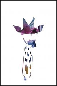 Giraffe night Juliste