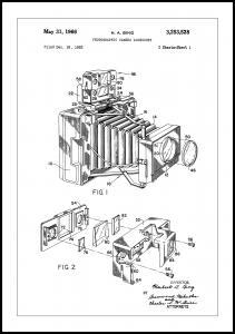 Patent Print - Photographic Camera - White Juliste
