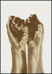 Gold hands Juliste