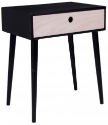 Yöpöytä Parma 32x45 cm - Musta/Puu