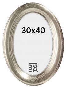 Molly Ovaali Hopeanvärinen 30x40 cm