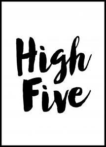High Five Juliste