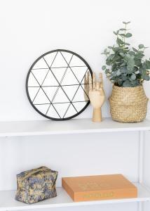 KAILA Pyöreä Peili Triangles - Musta 35 cm Ø