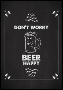 Don´t worry beer happy Juliste