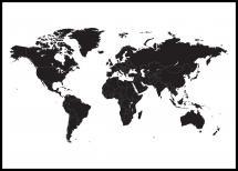 Maailmankartta Musta Juliste