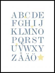 ABC - Sininen/Beige Juliste