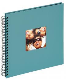 Fun Kierrealbumi Turkoosi - 30x30 cm (50 Mustaa sivua / 25 lehteä)