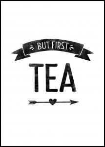 But first tea Retro Juliste