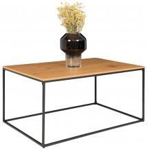 Sohvapöytä Vita 60x90 cm - Musta/Tammi