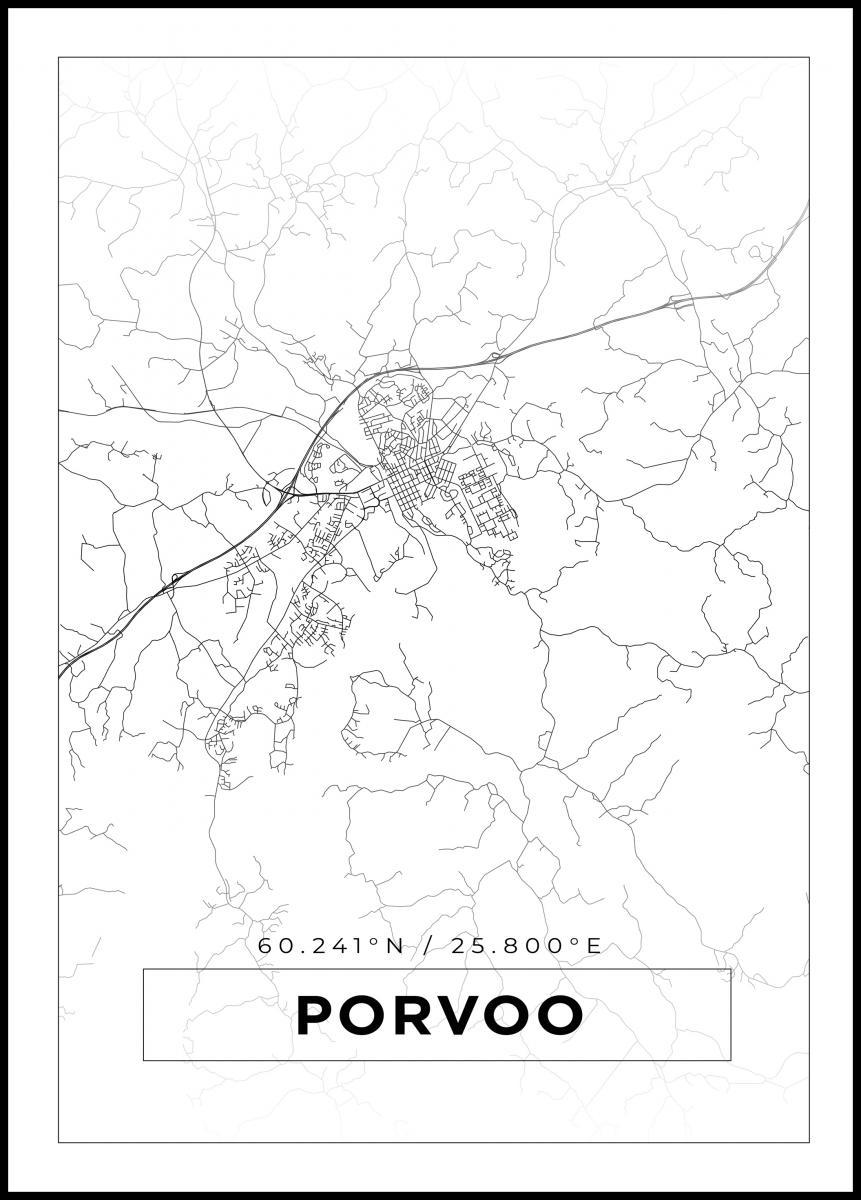 Kartta Porvoo Valkoinen Bga Fi