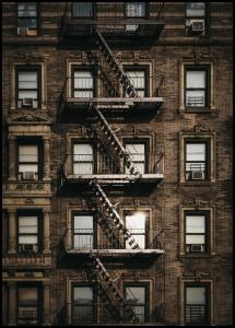 New York Fire Escape Juliste
