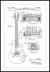 Patentti Piirustus - Sähkökitara I Juliste