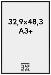 Edsbyn Musta 32,9x48,3 cm (A3+)