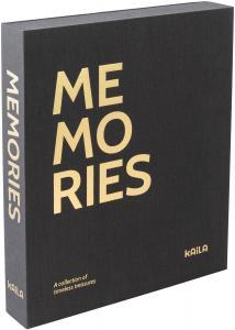 KAILA MEMORIES Black - Coffee Table Photo Album (60 Mustaa sivua / 30 lehteä)