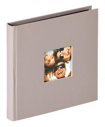 Fun Albumi Harmaa - 18x18 cm (30 Mustaa sivua / 15 lehteä)