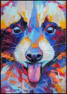 Raccoon Painting II Juliste
