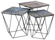 Sivupöytä Ranchi Sininen - 3 kpl