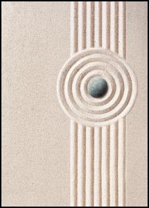 Circle Sand Juliste