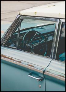 Old Blue Car Juliste