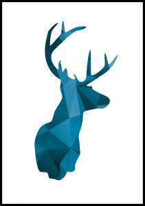 Deer - Sininen Juliste