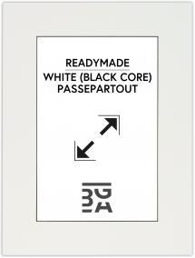 Paspatuuri Valkoinen (Musta keskus) 40x50 cm (29x39 cm)
