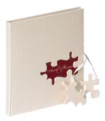 Puzzle Vieraskirja - 23x25 cm (144 Valkoista sivua / 72 lehteä)