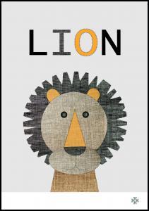 Fabric lion Juliste