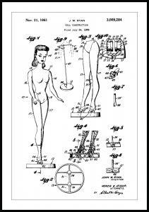 Patentti Piirustus - Barbie Juliste