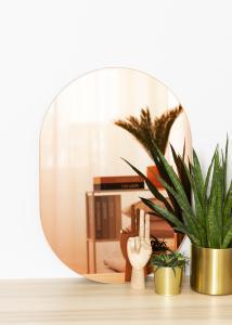 KAILA Peili Oval Rose Gold 50x70 cm