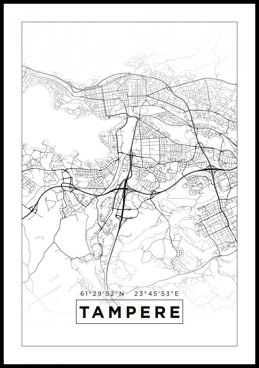 Kartta Tampere Valkoinen Bga Fi