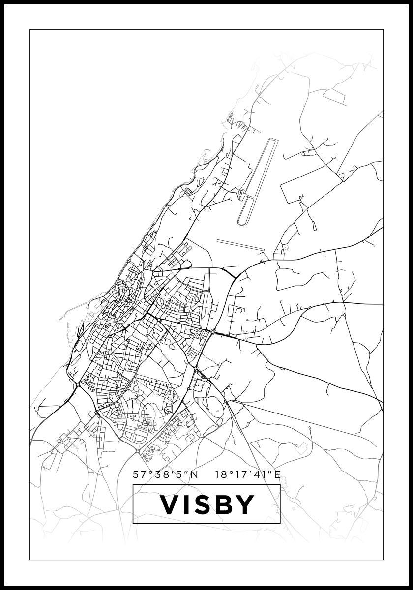 Kartta Visby Valkoinen Bga Fi