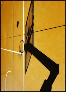 Yellow basketball court Juliste