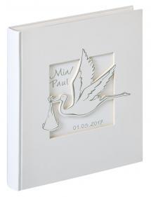 Cicogna Vauvaalbumi Valkoinen - 28x30,5 cm (50 Valkoista sivua / 25 lehteä)